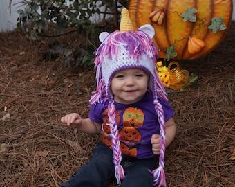 Homemade Custom Crochet Unicorn Hats