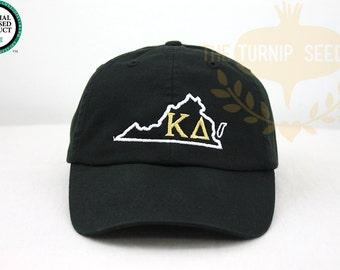 Kappa Delta Virginia Sorority Baseball Cap - U.S. State Custom Hat and Embroidery.