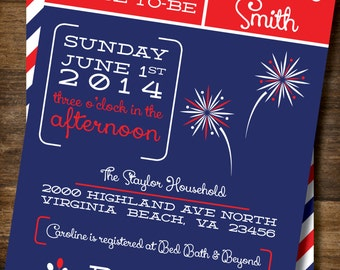 Summer / Fourth of July / Bridal / Couples / Birthday Party Invitation