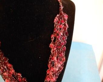 Trellis Necklace/ Crochet Necklace Item No. B 119
