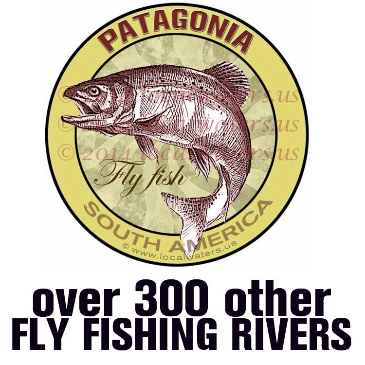 Patagonia south america sticker fly fishing decal guaranteed for Patagonia fish sticker