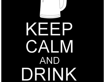 Keep calm and drink beer decal