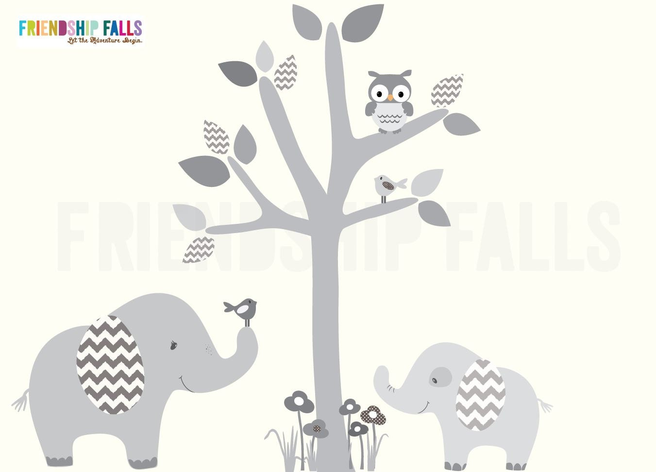 Mini jungle decals small elephant wall decal nursery wall zoom amipublicfo Images