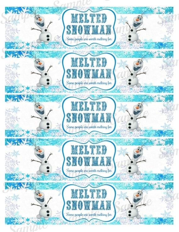 Frozen Bottle Label Frozen Water Bottle by PartyPrintsDiscount