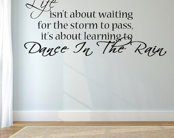 "Dance in the Rain -Wall Decal  (40"" X 22"")"