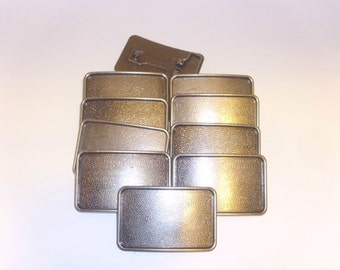 10 Belt Buckle Blanks - Antique Nickle