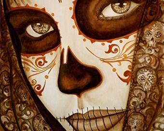 Day of the Dead Giclee print Mi Amor Siempre Estara