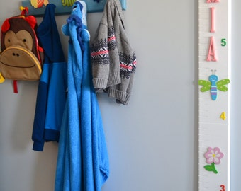 Personalized Wooden Growth Chart - Girls (Big Letters)