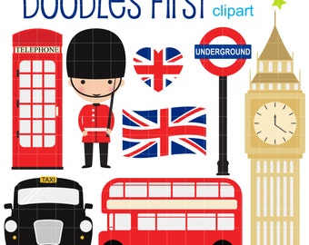 london clip art – Etsy
