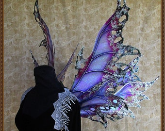 Adult Fairy Wings**Iridescent Lavendar/Purple/Pink/Green/Silver**FREE SHIPPING**Costume/Photography/Masquerade/Cosplay/Weddings/Renn Faires