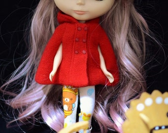 Little Red riding hood Red Cape for Blythe and Pullip Dolls