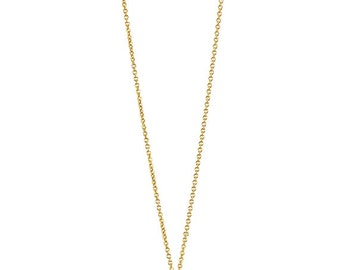 """Long necklace""""Solile"""" pink Serpentine, gold filled"""