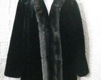 Mink Fur Coat Faux Fur Outerwear Glam Luxe Sophisticated Chic Evening Wear Outerwear M L