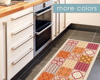 spanische fliesen muster gedruckt auf pvc teppich rot von artmats. Black Bedroom Furniture Sets. Home Design Ideas
