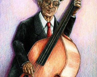 Jazzman 8 x 10 high quality print of original illustration