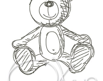 MACHINE EMBROIDERY FILE - Teddy bear