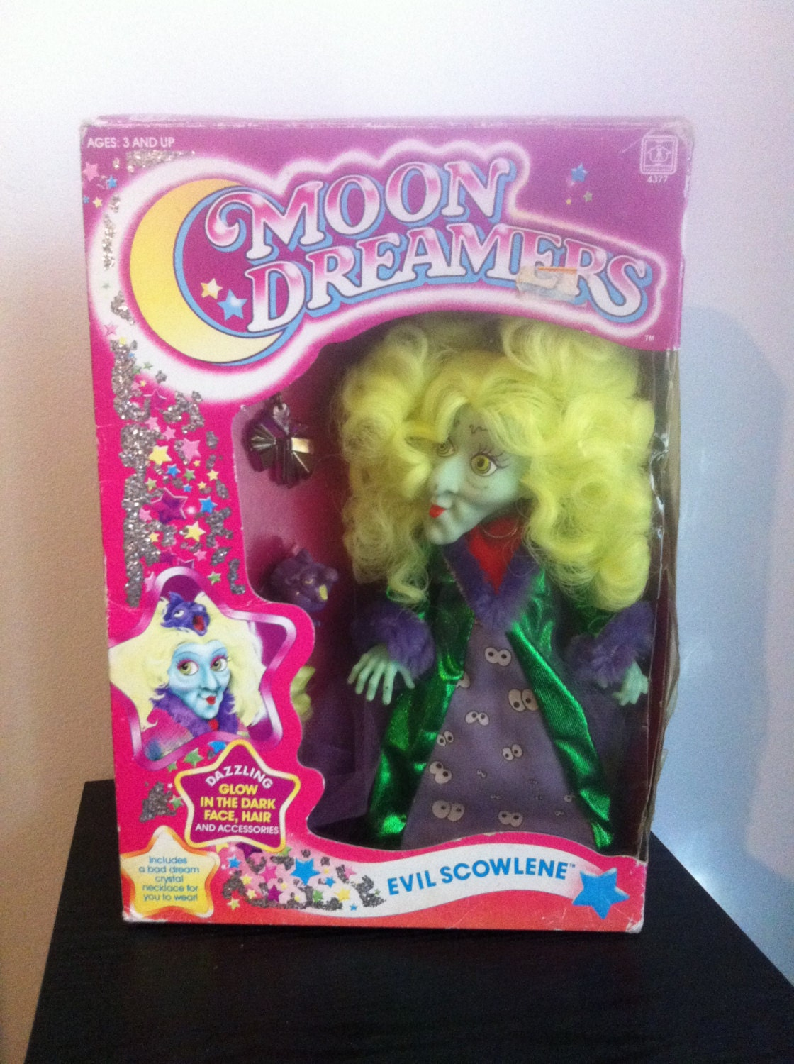 Classic 80s Toys : Moondreamers vintage s toy action figure scowlene in box tv