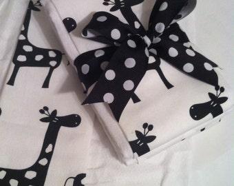 Dottie Giraffe Burp Cloth Set- Baby Shower Gift