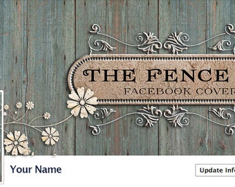 Facebook Timeline Cover design customizable with your Shop name also  The Fance Design SHABBY Chic