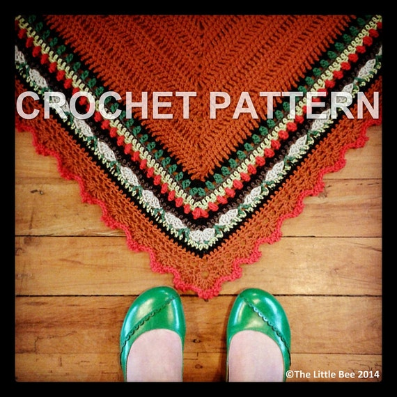 Items similar to Crochet Shawl Pattern ~ Instant Download ...