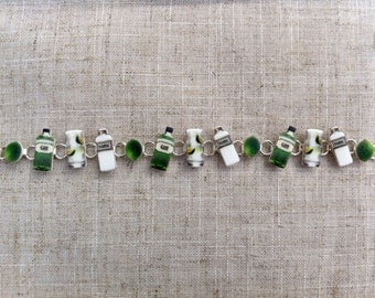 Gin and tonic - Charm bracelet - Gin jewellery - Gin gift - Gin lover - Gift for her - Quirky gift - Girlfriend gift