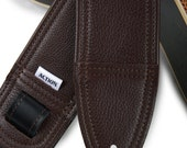 Simply Classy Brown Leather Guitar Strap