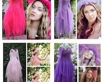 New Adult Faerie Dress ~ Renaissance Costume ~Tulle Headpiece ~ Theatre ~ Fairy Wedding ~