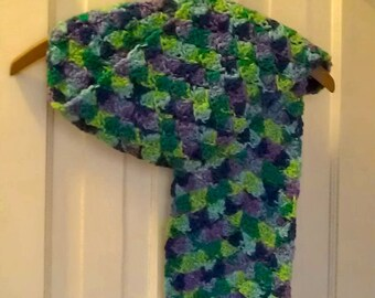 Women's Crocheted Multi-Color Scarf