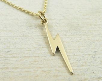 Lightning necklace, gold lightning necklace, lightning bolt necklace, trendy jewelry, trendy necklace, minimalist necklace