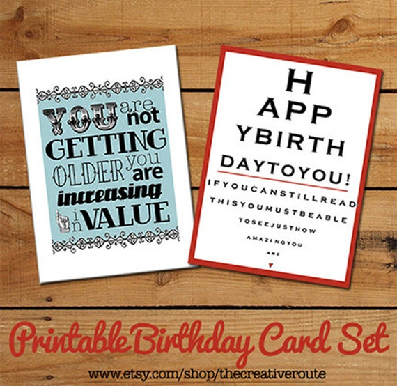 items similar to printable birthday cards  funny birthday quotes, Birthday card
