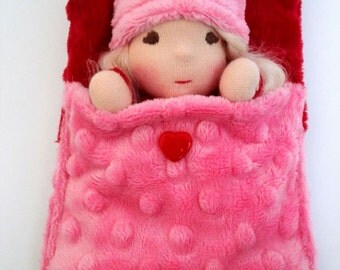 Made to order. Little Sweet Waldorf Baby Doll. Tiny baby doll 6 inch. Tiny waldorf doll.
