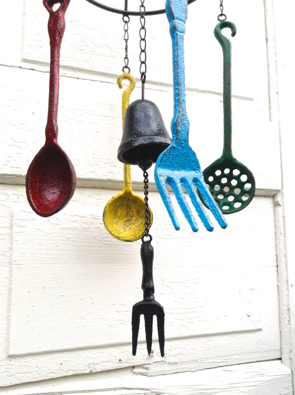 wind chime metal wind chimes silverware windchime bells. Black Bedroom Furniture Sets. Home Design Ideas