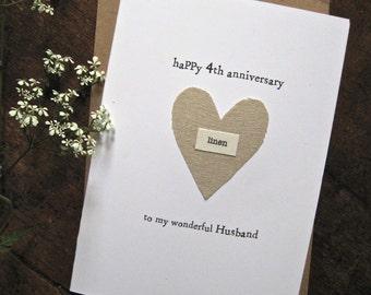 4th Wedding Anniversary Present Husband : 4th anniversary Etsy