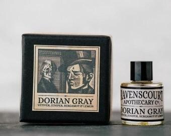 """Men's cologne """"Dorian Gray"""" - Vetiver, Juniper, Bergamot & Lemon. Natural Botanical Fragrance For Men. 10 ml"""