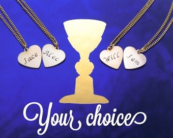Shadowhunter Fandom Necklace - 4 Options in Brass - Inspired by The Mortal Instruments & The Infernal Devices