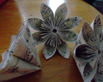 Mozart Sheet Music Paper Flower