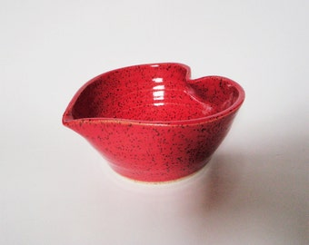 I Love You Red Heart Bowl