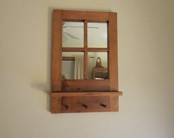 Popular items for farmhouse mirror on etsy for Mirror key holder