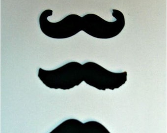 200 Mustache Moustache Cut Outs Die Cuts Photo Props gender Reveal (3058M)