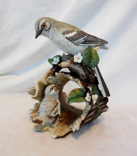 Items similar to mocking birds figurine masterpiece Home interiors figurines homco