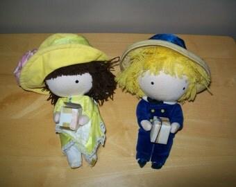 Vintage 1970's Pocket Birthday Dolls by Joan Walsh Auglund