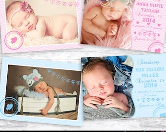 Birth Announcement Card Template 002 - Photoshop Template
