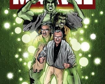 Stan Lee/Hulk 12x18 Original Art Print