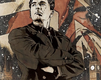 Jack Harkness/John Barrowman art print signed & numbered by artist
