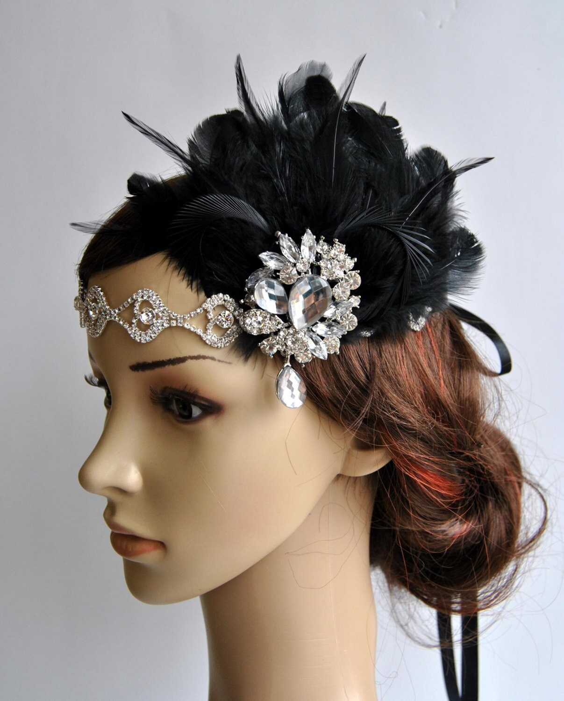 Flapper Headpiece: Rhinestone Flapper Headband1920's Flapper Headpiece The