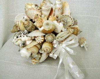 Sea shell bouquet, Bridal bouquet Sea , Beach wedding, Wedding bouquet Handmade, Nautical, Coastal wedding. Seaside Wedding