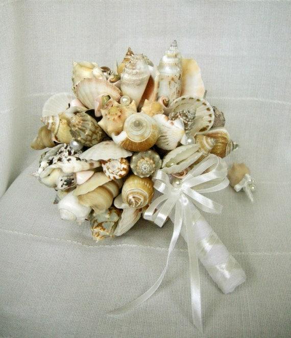 Sea Shell Bouquet Bridal Bridesmaid