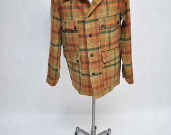 vintage PENDLETON jacket coat wool plaid LARGE