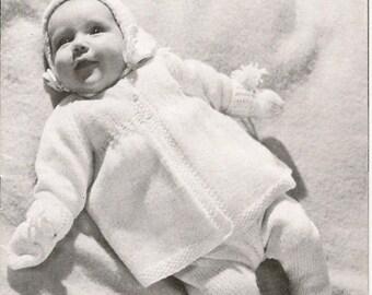 Vintage Baby Knitting Pattern Patons Knitting Book SC44 in Pdf format