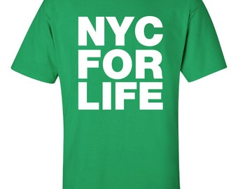 NYC for life dap Printed T-Shirt Tee Shirt T Mens Ladies Womens Youth Kids Funny New York City Represent brooklyn bronx queens kings ML-069